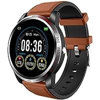 NiceFuse - Reloj inteligente con monitor de oxígeno en sangre, monitor de ritmo cardíaco, múltiples modos deportivos, resistente al agua, con monitor de sueño, Coffee
