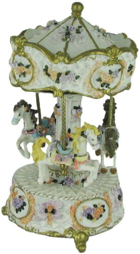 Collectible Hand Painted Musical Revolving Carousel