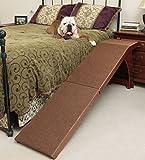 Pet Supplies Solvit 25'' Bedside Cherry Finished Carpet Pet Dog Ramp