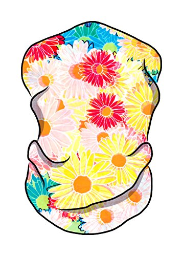 (Light Crazy Daisy Seamless Bandana Face Mask - Raves Music Festival Multipurpose)