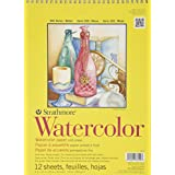 Strathmore 360900 Cold Press 140-Pound 12-Sheets Strathmore Watercolor Paper Pad, 9-Inch by 12-Inch