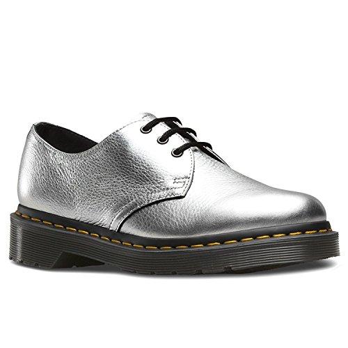 Dr Martens Mujer Plata Santos 1461 Zapatos Silver