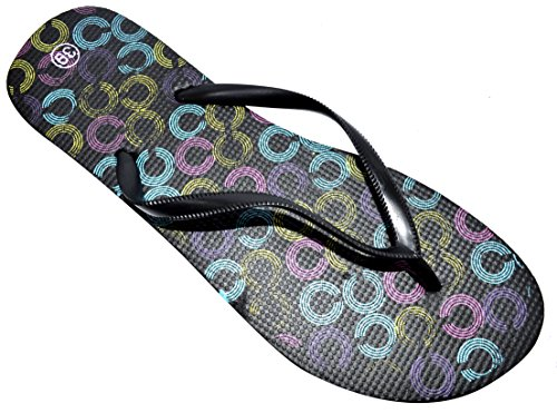 verano estilos chanclas mujer OCTAVE® de Colección chanclas varios de de Colección de y Negro colores para qz4Ftpp7