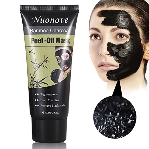 Charcoal Peel Off Mask, Peel Off Mask, Blackhead Remover Mask, Deep Purifying Blackhead Mask, Activated Charcoal Deep Pore Cleansing Mask for Face Nose Acne Treatment Oil Control (mask) (Remover Makeup Strawberry)