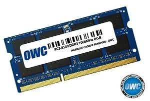 OWC 8GB, PC8500, DDR3, 1066MHz 8GB DDR3 1066MHz módulo de - Memoria (PC8500, DDR3, 1066MHz, 8 GB, 1 x 8 GB, DDR3, 1066 MHz, 204-pin SO-DIMM, Azul)