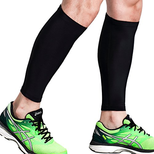 (Calf Compression Sleeve - Leg Compression Socks for Shin Splint, Calf Pain Relief - Men, Women, and Runners - Calf Guard for Running, Cycling, Maternity, Travel, Nurses (Large))