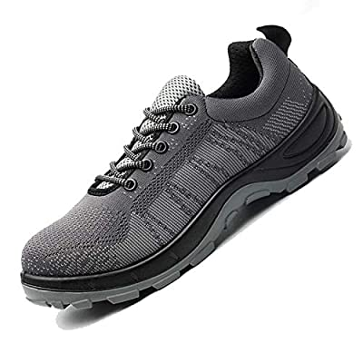 SUADEX Steel Toe Shoes Men Women, Indestructible Work Shoes Breathable Industrial Construction Non Slip Puncture Proof Composite Safety Toe Shoes