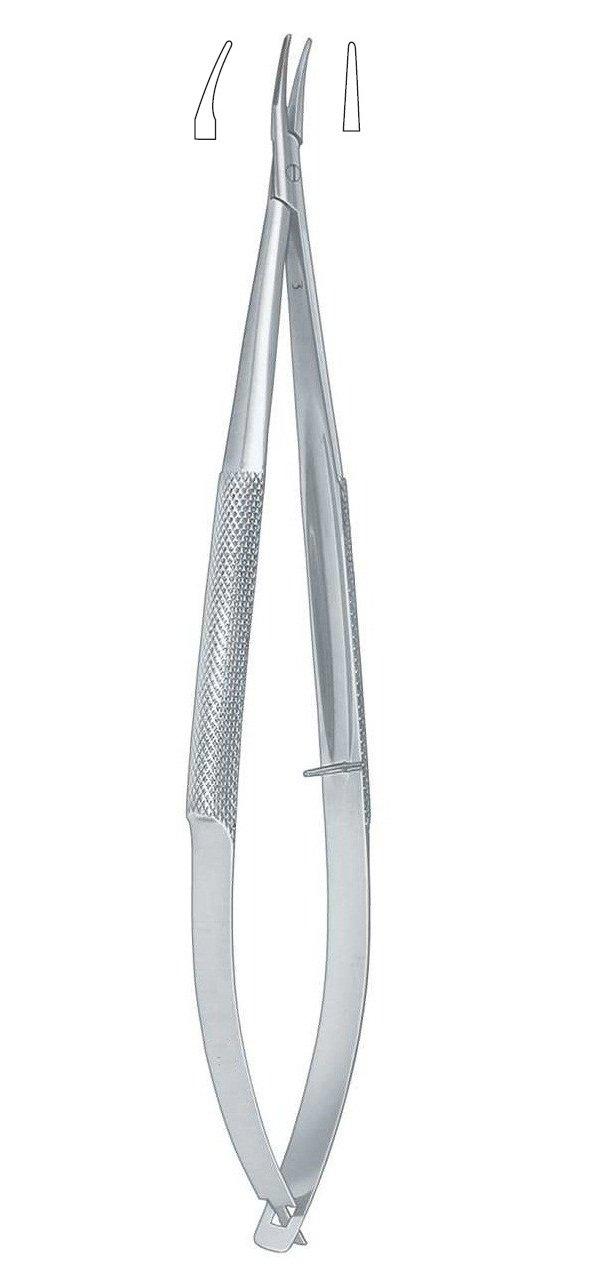 Barraquer Needle Holder Straight 4''/10CM (W/O Lock), Smooth