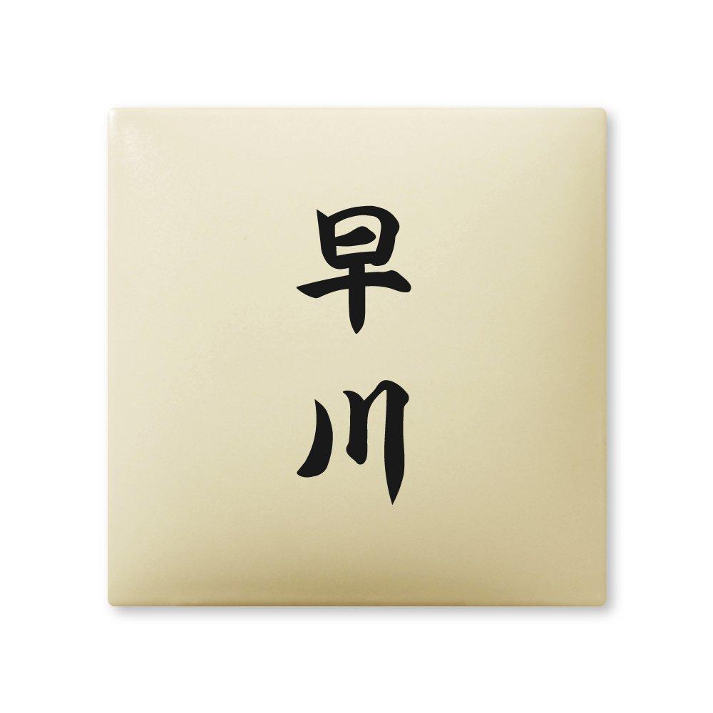 丸三タカギ 彫り込み済表札 【 早川 】 完成品 アークタイル AR-1-2-4-早川   B00RFADH4O