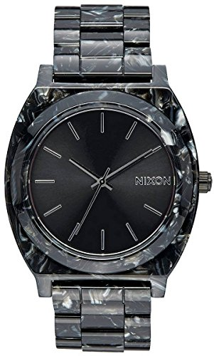 Nixon Mens The Time Teller Acetate Watch - Black/Silver