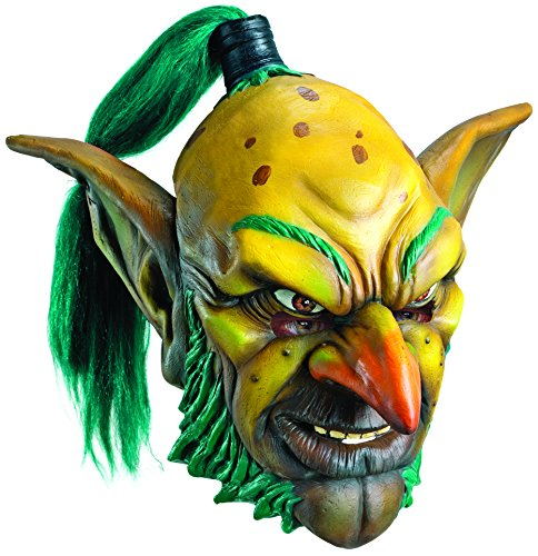 [Rubie's Costume Co Men's World Of Warcraft Goblin Deluxe Overhead Latex Mask, Multi, One Size] (Goblin Costume Wow)