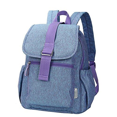Bolso de la mamá de la manera empaqueta hacia fuera el bolso maternal del bebé ( Color : Snow blue ) Snow blue