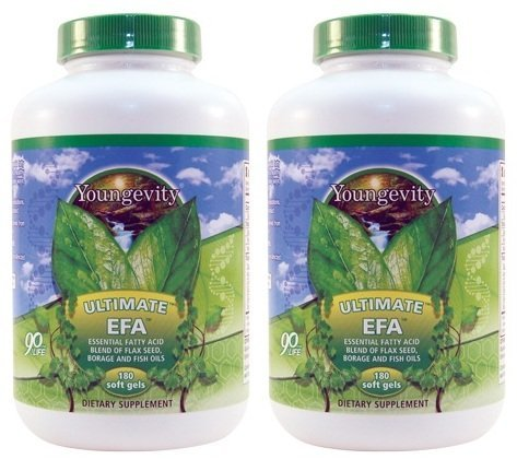 Ultimate EFA 180 Softgels Per Bottle 2 Pack Youngevity (Ships Worldwide) For Sale