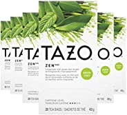Tazo Green Tea for An Invigorating Cup Of Green Tea Zen Helps You Feel Focused and Zen, 20 Count (Pack of 6)