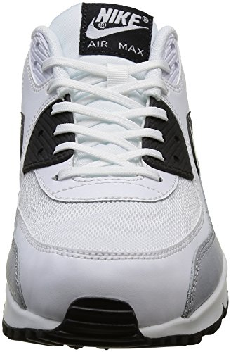 NikeWmns Air Max 90 Essential - Zapatillas de Deporte Mujer Blanco (White / Black-Wolf Grey)