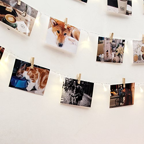 Wooden Photo Clip String Lights