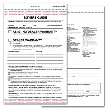 Amazon.com : 2-part Buyers Guide Form - Adhesive Tape - English ...