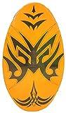 Sunspecs Rubber Top Wooden Skimboard With Slip Free Grip (No Wax Needed!) (Orange, 36 Inch)