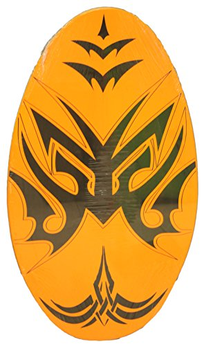 Sunspecs Rubber Top Wooden Skimboard With Slip Free Grip (No Wax Needed!) (Orange, 36 Inch)