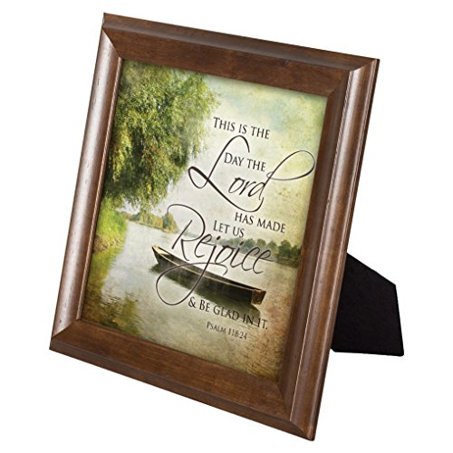 This is the Day That the Lord Has Made Psalm 118:24 12 x 12 Framed Woodgrain Wall Art Plaque