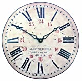 Roger Lascelles Railway Station Wall Clock, 14.2-Inch