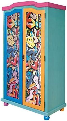 Paris Prix – Armario 2 puertas Kids Graffiti, Multicolor: Amazon ...