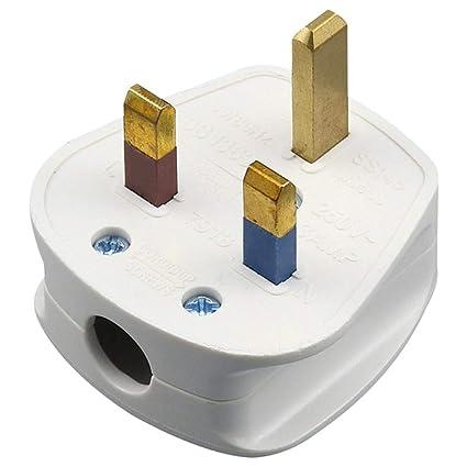 Amazon.com: Arichtop 13A UK Plug Three-Pole White Electric ... on