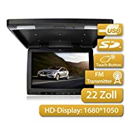 Moniteur Overhead de 16\:9 Moniteur Overhead 55,88cm (22 pouces) 16\:9 de l' écran HD de 1650x1080 format, avec USB / SD & Transmetteur FM