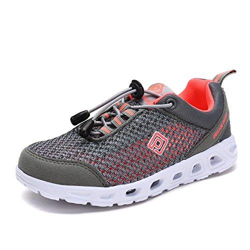 Dream Pairs Big Kid 160712-2-K Lt.Grey Coral Mesh Summer Swim Water Shoes Shoes - 6 M US Big Kid