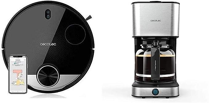 Cecotec Robot Aspirador Conga Serie 3290 Titanium + Cafetera Goteo Coffee 66 Heat: Amazon.es: Hogar