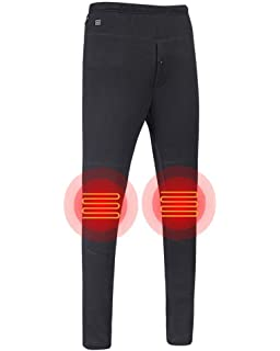 8e34e4a7c5095 Letsfree USB Heated Pants Women Rechargeable Insulated Pants Men Heated  Slim Fit Heated Baselayer Pants