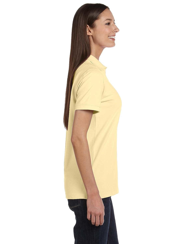 2XL YELLOW HAZE Anvil 8680A Ladies Pique Sport Shirt