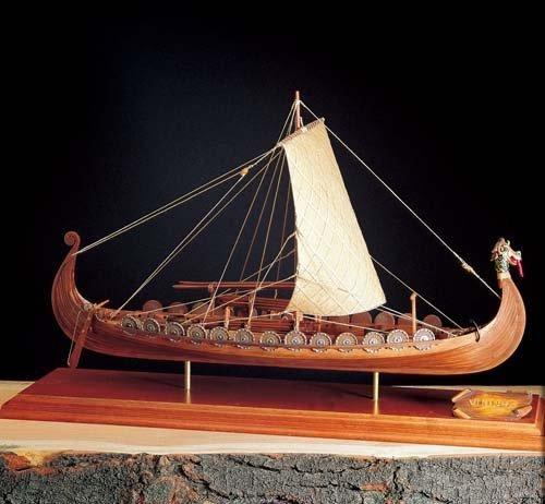 Import wooden sailing ship model Amati AM1406-01 Viking Ship from Amati