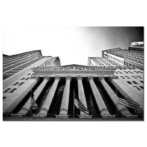Trademark Fine Art New York Stock Exchange by Yale Gurney, 22x32-Inch Canvas Wall (New York Stock Exchange)