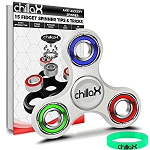 Chillax Fidget Spinner - Tri-Spinner Fidget Toy for Anxiety and ADHD (Colorful) from Chillax