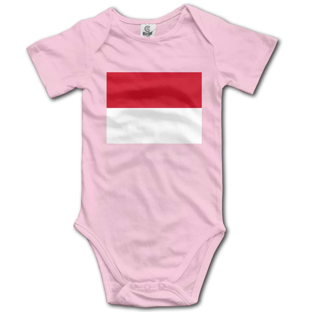 CUTEDWARF Baby Short-Sleeve Onesies Flag Monaco Bodysuit Baby Outfits