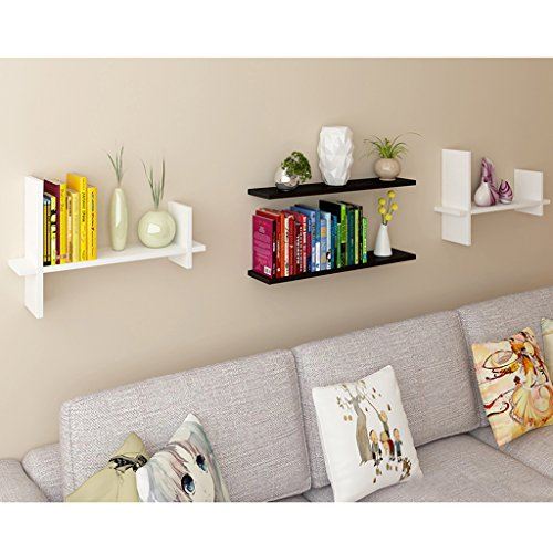 Wall Shelf, TV Wall Decoration Display, Living Room Wall Floating Rack, Storage Rack, 60cm 21cm 40cm (Color : White) by Boyang (Image #3)