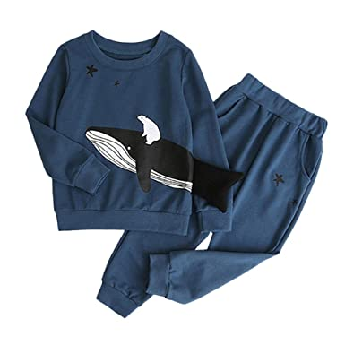 Zerototens Boys Clothing Set,1-5 Years Old Toddler Kids Baby Long Sleeves Cartoon Tractor Print Top+Pants Boys Clothes Outfit Set Spring Autumn Casual Cotton Tracksuit 18-24 Months, Dark Blue