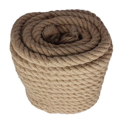 Twisted Manila Rope Jute Rope 100 Feet Natural Jute Twine Hemp Rope 1 Inch Diameter Twine Burlap Rope