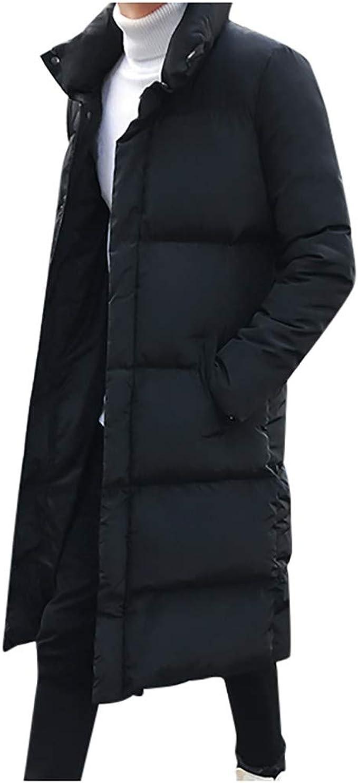 Winterjacke Herren Dasongff Daunenjacke Lang Steppjacke Schwarz Steppmantel Männer Große Größen Winter Warme Daunenmantel Elegante Übergangsparka