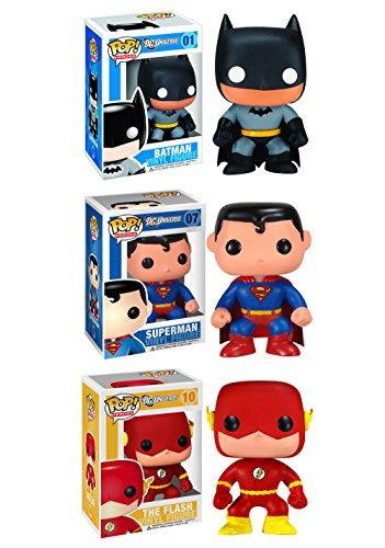 Funko DC Universe POP! Heroes Vinyl Collectors Set: Batman, Superman & Flash Action Figure