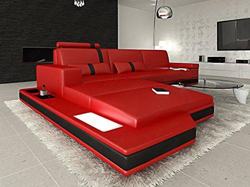 Divano Rosso E Nero : Divanova divano moderno proxima angolare in vera pelle e