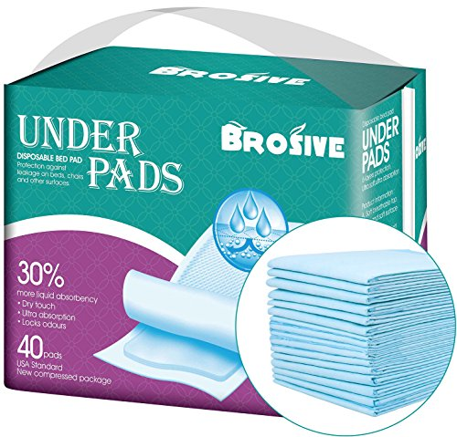 Disposable Incontinence Bed Pads Leak Proof Breathable Disposable Underpads For Adults Children And Pets Hospital 1500ml High Absorbency Disposable Waterproof Bed Pads 36lx23w 40pads