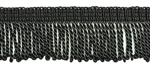 DÉCOPRO 10 Yard Value Pack - 2 Inch Long Black Thin Bullion Fringe Trim, Style# BFT2 Color: K9 (30 Ft / 9.1 Meters) by DÉCOPRO