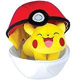 Image of TOMY Pokémon Zipper Poké Ball Plush, Poké Ball and Pikachu