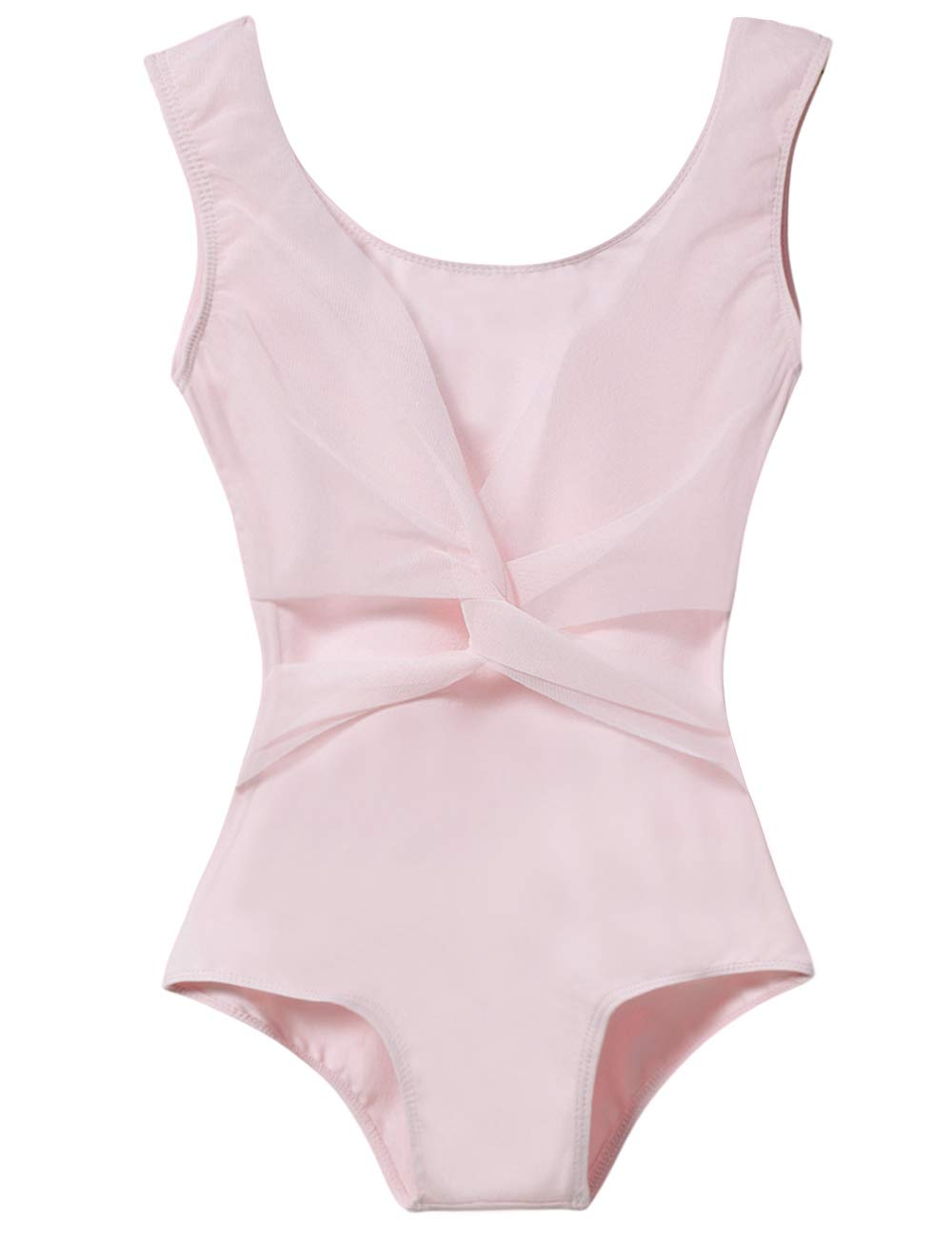 Ballet Leotard For Little Girls With Mesh Cross Front Age 4 6 Ballet Pink