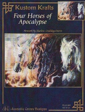 Four Horses of Apocalypse (Jeanette Crews Designs Cross Stitch Horse Pattern, #SLO003) Dyan Allaire Cross Stitch