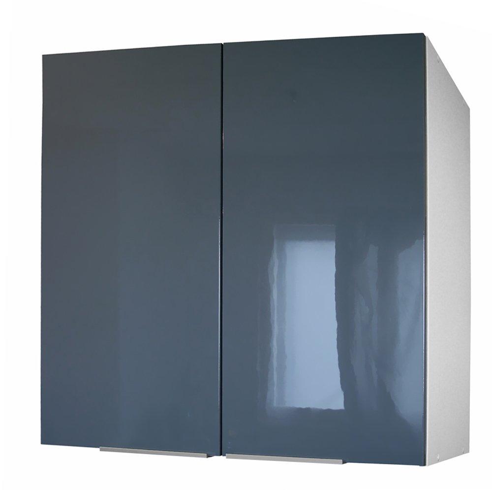 Berlenus CP8HA Tall Kitchen Cabinet 2 Doors 80 cm High-Gloss Aubergine