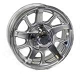 14x5.5 Series 8 Silver Aluminum Trailer Wheel 5x4.5