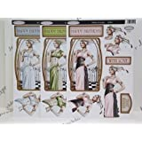 3 x Debbi Moore Art Deco Decadence Decoupage Die Cut Pack 8 Designs to Choose (Happy Birthday (ADD022)) by Debbi Moore